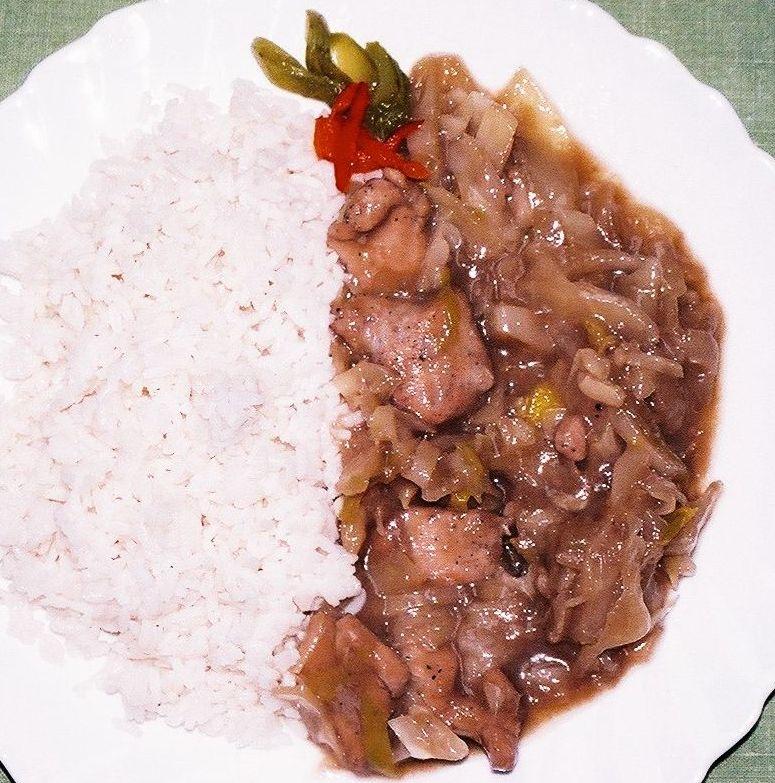 Kuřecí nudličky, rýže