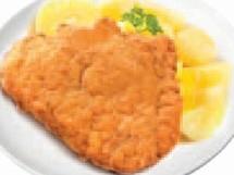 Vepřový řízek, šťouchaný brambor